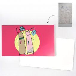 Fête, anniversaire, vœux... : envoyez une carte personnalisée avec dessin d'enfant !