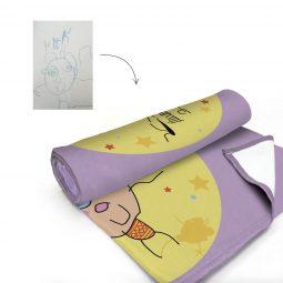Couverture personnalisée avec dessin d'enfant