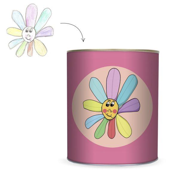 Cadeau unique et personnalisé : boîte à bonbons décorée avec dessin d'enfant
