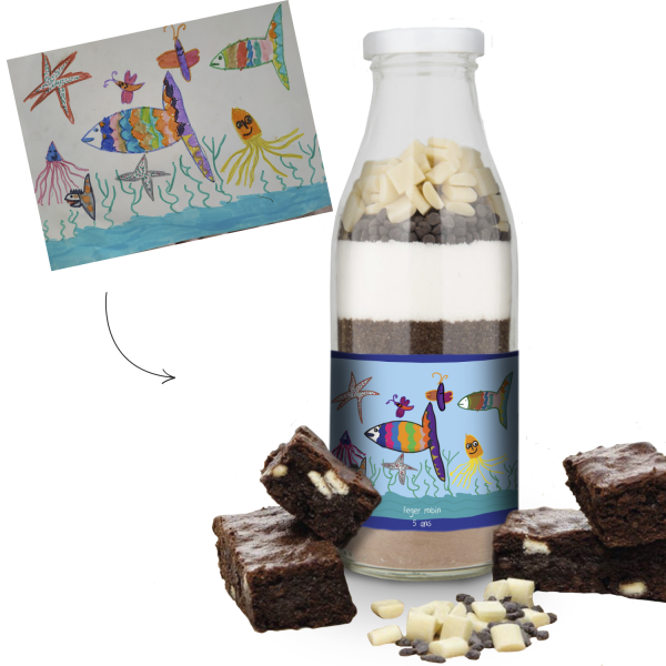 Personalized Bottle Brownie Mix US