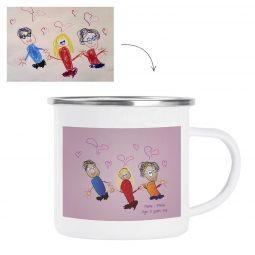 Mug enamel mug Personalized Mug personalized gift Gifts Drawing Artwork accessories